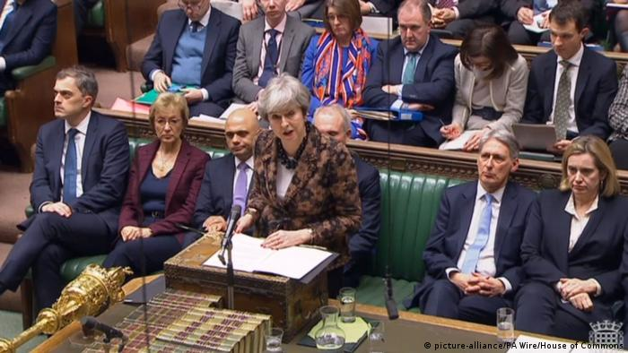 Großbritannien House of Commons in London   Theresa May, Premierministerin
