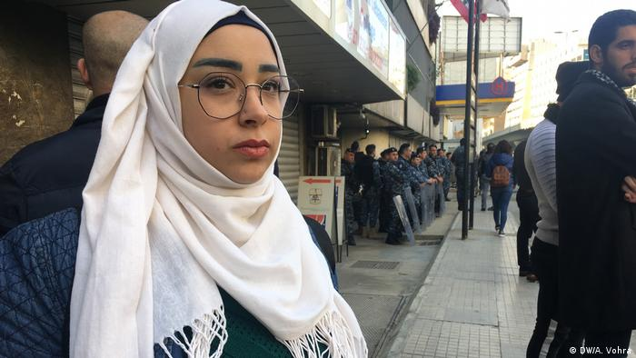 A female student in Beirut