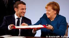 Angela Merkel und Emmanuel Macron unterzeichnen den neuen Elysée-Vertrag in Aachen Kommentarbild Felix Steiner