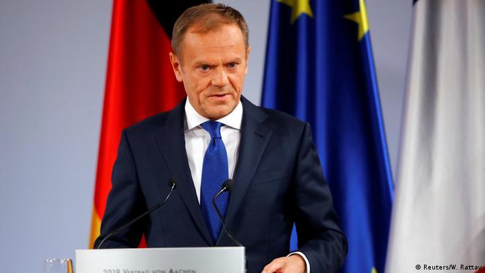 Deutschland Vertrag von Aachen | Rede Donald Tusk, Präsident Europäischer Rat