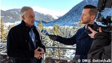 Tony Blair speaks with DW at the World Economic Forum in Davos, Switzerland (DW/J. Gottschalk)