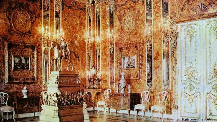 Реконструированная Янтарная комната в Екатерининском дворце