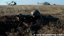 Ukraine Armee Übung bei Mariupol