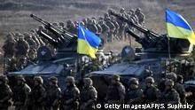 Ukraine Armee Übung in Schytomyr