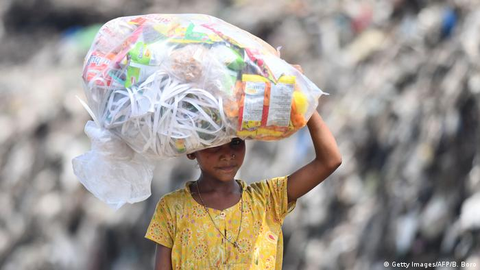 Plastikmüll in Indien (Getty Images/AFP/B. Boro)