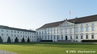 Exterior photo of Bellevue Palace in Berlin, the president's official residence