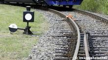 Deutschland Schienenverkehr Weiche in Görlitz