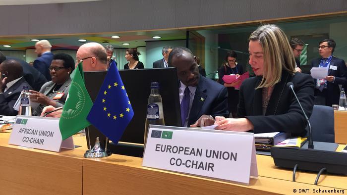 Die EU-Außenbeauftragte Federica Mogherini beim AU-EU Treffen in Brüssel