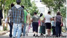 Deutschland 2014 Landeserstaufnahme für Asylbewerber in Karlsruhe