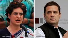 Bildkombo Priyanka Gandhi / Rahul Gandhi