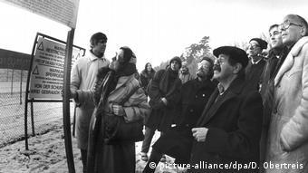 Deutschland Waldheide Demonstration gegen vermeintlichen Pershing II - Standort