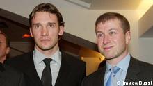 Fußball Andrij Schewtschenko und Roman Abramowitsch