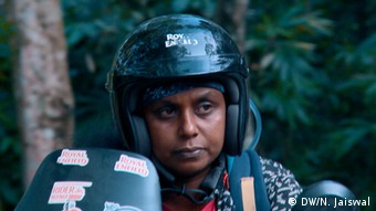 Shiny Rajkumar, a biker and artist, is passionate about women's rights