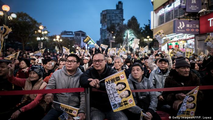 Taiwan 2016 Anhänger von Freddy Lim, New Power Party (Getty Images/AFP/P. Lopez)
