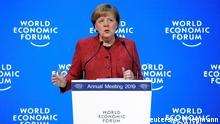 Weltwirtschaftsforum 2019 in Davos | Angela Merekel, Bundeskanzlerin