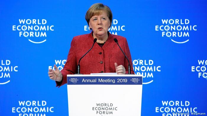 Weltwirtschaftsforum 2019 in Davos | Angela Merekel, Bundeskanzlerin (Reuters/A. Wiegmann)