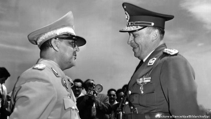 Venezuela 1957 Marcos Pérez Jiménez, Diktator & Alfredo Stroessner, Präsident Paraguay