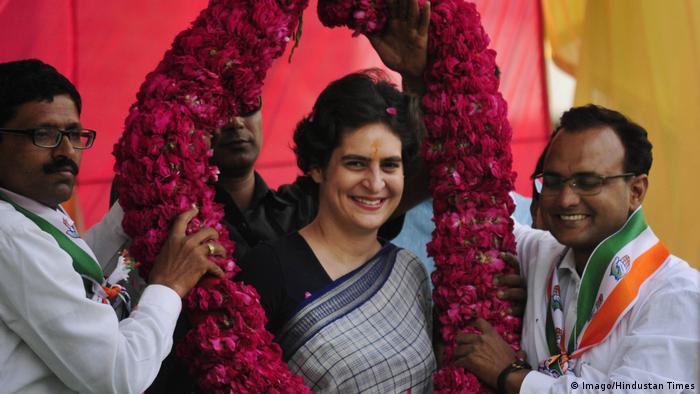 BG Indien Priyanka Gandhi (Imago/Hindustan Times)