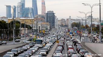Russland Stau in Moskau