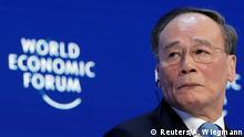 Weltwirtschaftsforum 2019 in Davos | Wang Qishan, Vizepräsident China