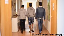 تصویر از آرشیف: پناهجویان زیر سن در مرکزی در آلمان