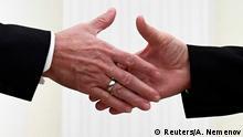 Russian Recep Tayyip Erdogan, Präsident Türkei & Wladimir Putin in Moskau | Handschlag