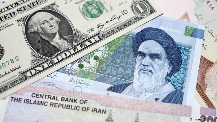 Symbolbild Währung | Iran Rial & US Dollar (Imago/C. Ohde)