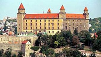View of Bratislava with castle