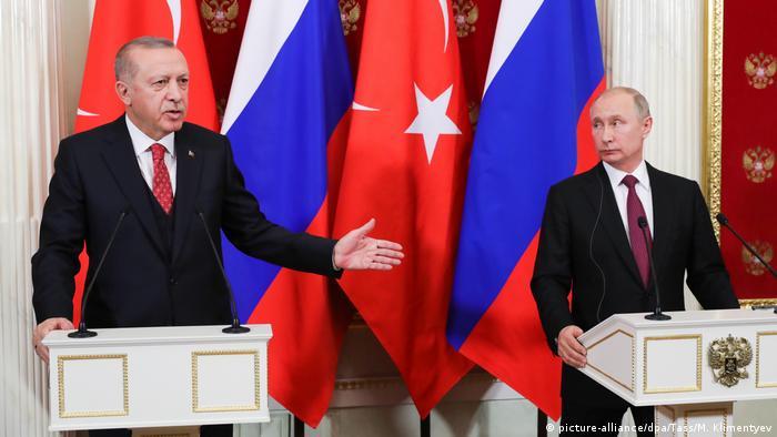 Russian Recep Tayyip Erdogan, Präsident Türkei & Wladimir Putin in Moskau