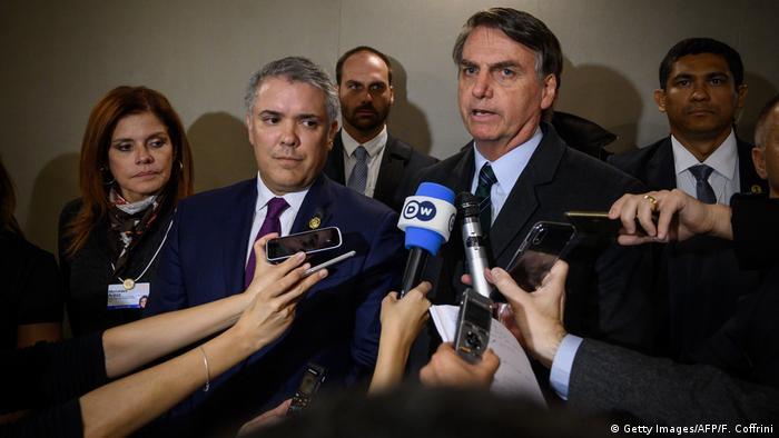 7971da54e23 Bolsonaro anunciou apoio à oposição venezuelana durante o Fórum de Davos