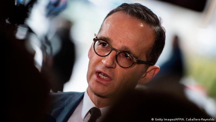 USA Außenminister Heiko Maas in Washington (Getty Images/AFP/A. Caballero-Reynolds)
