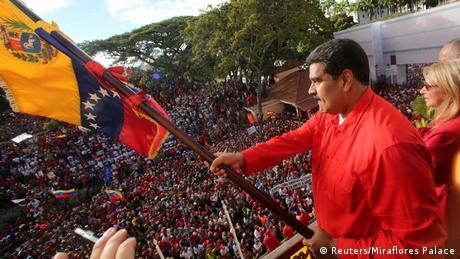 Ніколас Мадуро на мітингу у Каракасі