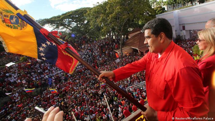 Nicolás Maduro en una manifestación en Caracas.