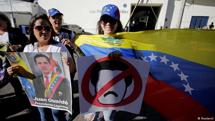 Venezuelans hold a protest against Venezuelan President Nicolas Maduro's government