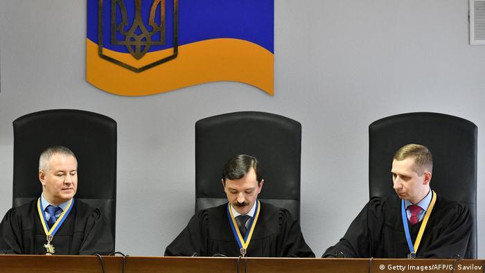 Судді Оболонського суду Києва оголошують вирок Віктору Януковичу, 24 січня