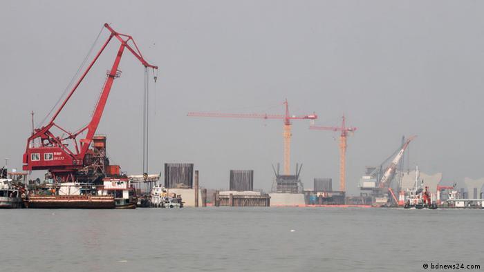 Padma Brücke Bau Bangladesch (bdnews24.com)