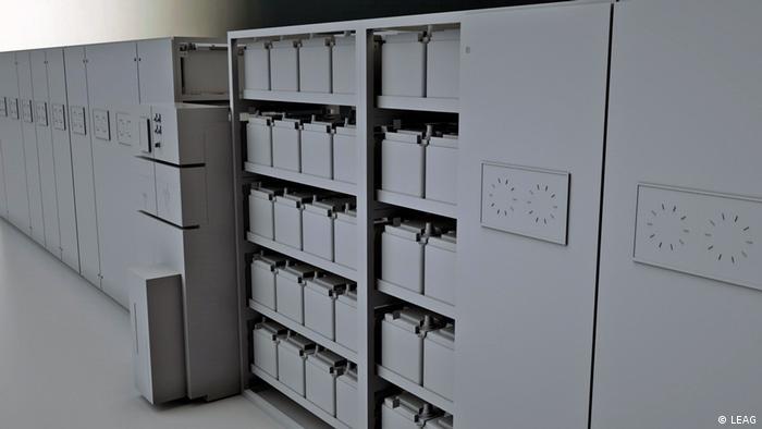 BigBattery electricity storage racks