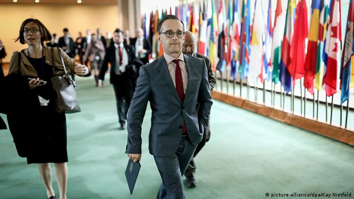 USA Heiko Maas bei den Vereinten Nationen (picture-alliance/dpa/Kay Nietfeld)