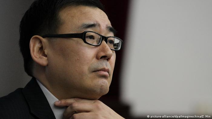 Author Yang Hengjun attends a lecture at the Beijing Institute of Technology (picture-alliance/dpa/Imaginechina/Z. Min)