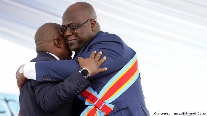 Demokratische Republik Kongo Kinshasa - Amtseinführung: Felix Tshisekedi wird Kongos Präsident (picture-alliance/AP Photo/J. Delay)Em
