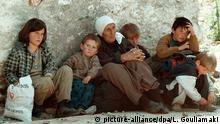 Kosovo Albaner fliehen