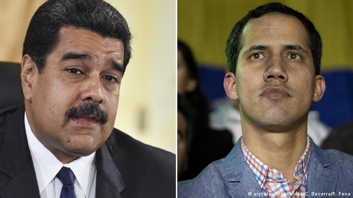Venezuelan President Nicolas Maduro and opposition leader Juan Guaido