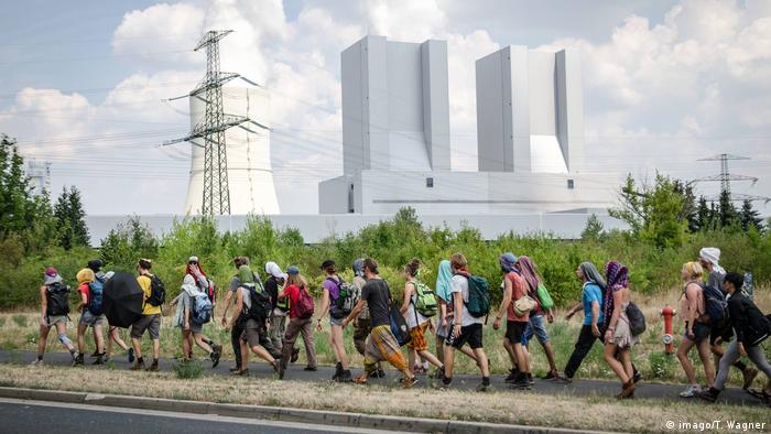 Акция протеста против угольной электростанции в Липпендорфе