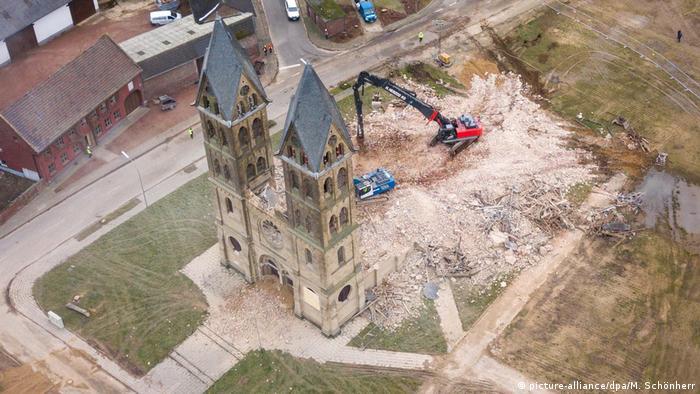 Luftbild vom Abriss des Immerather Doms