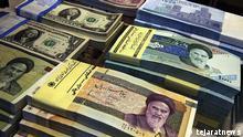 Iran iranische Währung Rial und Dollar
