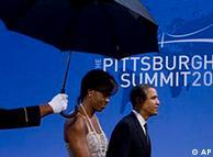 奥巴马夫妇在峰会上