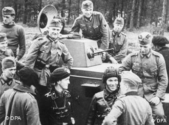 German tanks invading the Soviet Union