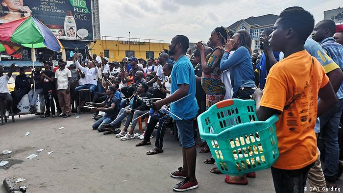 Victoire Platz in Kinshasa während der Vereidigung von Felix Tshisekedi (Foto: DW/J. Gerding)