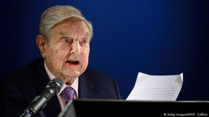George Soros em Davos, na Suíça
