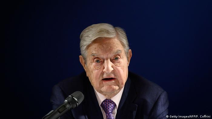 Weltwirtschaftsforum Davos   George Soros (Getty Images/AFP/F. Coffrini)